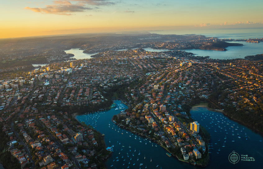 Sydney Northern Harbour Aerial View