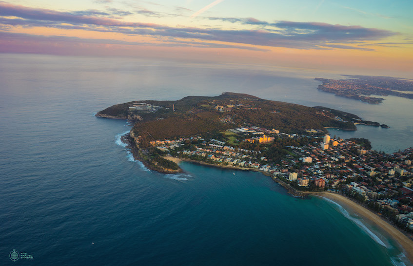 Sydney Manly Beach Aerial View